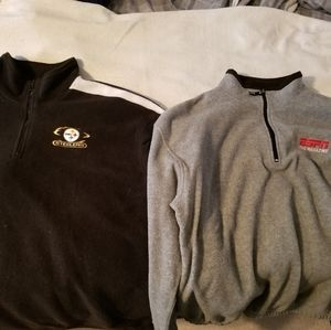 Lot of two Fleece Quarterzips - Steelers and ESPN.